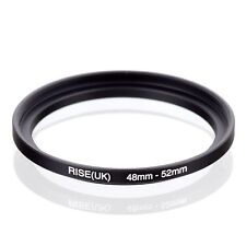 RISE(UK) 48-52mm 48-52 Step-Up Metal Lens Adapter Filter Ring Camera Adapter