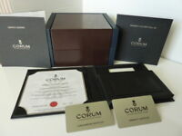 Corum Swiss men's luxury presentation watch box in excellent condition