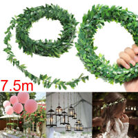 7.5M Artificial Ivy Leaf Garland Plants Vine Fake Foliage Flowers Home Decor