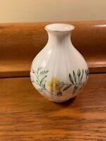 """Vintage Royal Worcester Arcadia Vase 1988 Fine Bone China England 4 3/4"""" X 4"""""""