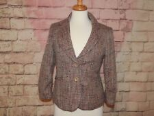 The Limit   Brown / Pink Tweed Blazer ~ Size  Small