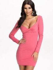 Polyester/Elastane V-Neck Short Sleeve Dresses for Women