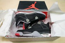 2012 Air Jordan IV 4 Bred Black Cement Fire Red Size 8 Used