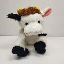 """Ty Cow Plush Stuffed Animal 11"""" with horns Black and White 2006 Farm"""