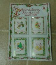 24 Vtg  Strawberry Shortcake Holiday Christmas Gift  Card Trims NEVER BEEN OPEN