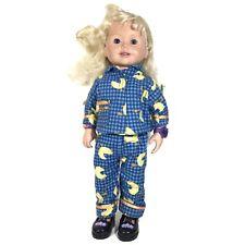 "Vintage 1999 Amazing Ally Vinyl 18"" Doll Playmates W/ Pajama Set"