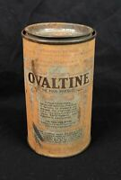 Antique Ovaltine Tin Can Container Vintage Advertising Primitive Decor