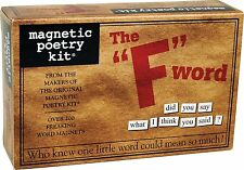 Magnetic Poetry F Word Kit Words for Refrigerator Write Letters on the Fridge
