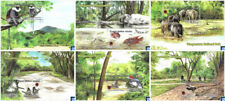 Sri Lanka Stamps 2019, Wasgamuwa National Park, Bird, Fish, Elephant, MSs