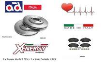 X601100-X40778 Dischi + Pastiglie freno Anteriori Opel Corsa C 1.0 1.2 cc
