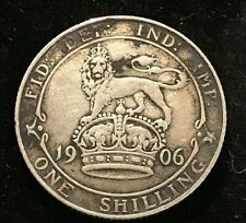 1906 UK SHILLING Circulated silver coin.