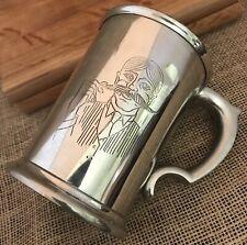 Fine English Pewter Mustache Beer Drinking Mug Sheffield England Craftsmen