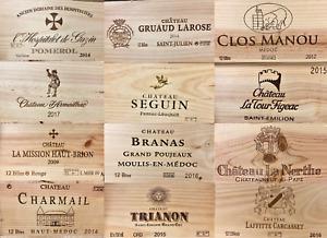 Weinkiste Holzkiste Dekokiste 12er Wein Französisch Chateau Pomerol Naturprodukt