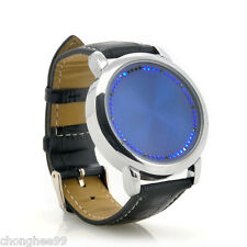 LED Light Abyss Japanese Style Inspired Blue Touch Screen Unisex Wristwatches