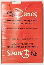 Very Rare 1970's THE DUNES HOTEL PLAYING CARDS Hotel Sign on Back of Cards