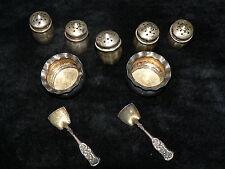 Antique Vintage Sterling Silver Salt Pepper Shaker Creamer Sugar Bowl Miniature