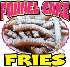"""Funnel Cake Fries Concession Decal 7"""" Cakes Restaurant Food Truck Sticker"""