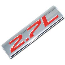 CHROME/RED METAL 2.7L ENGINE RACE MOTOR SWAP EMBLEM BADGE FOR TRUNK HOOD DOOR