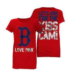 Boston Red Sox KISS CAM Shirt  Victoria Secret PINK Collection S M L XL