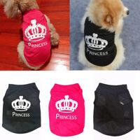 Pet Dog Cat Cute Princess T-shirt Clothes Top Vest Coat Puppy Costumes Outfit