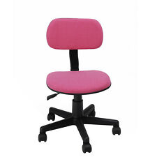 pink adjustable swivel chair office computer desk task girl kid