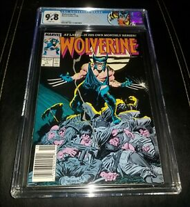 WOLVERINE 1 CGC 9.8 WHITE PAGES NEWSSTAND GRADED MARVEL COMICS 1988