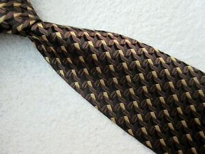 BROWN BLACK GOLD 3.75 INCH SILK necktie TIE from PIERRE CARDIN