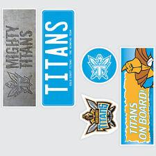 NRL Gold Coast Titans Set of 5 UV iTag Bumper Decals / Stickers