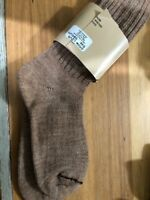AlpacaUnisex Tan  Everyday Dress  Ribbed Socks, Size M