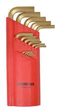 1.27-10mm Long Arm Hex End L-Wrench 15pc Set w/GoldGuard™ 14K Bondhus USA #39195