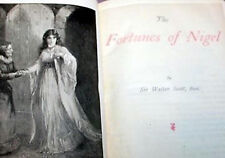 ANTIQUE BOOK The Fortunes of Nigel By Sir Walter Scott 1906