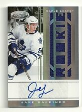 2011-12 Certified Rookie JERSEY Auto #224  JAKE GARDINER  Serial #496/499