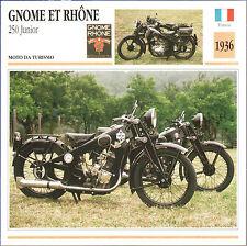 SCHEDA MOTO MOTORBIKE CARD - GNOME ET RHONE 250 Junior - 1936