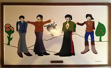 THE BEATLES YELLOW SUBMARINE FIGURES PAINTED BY VON DUTCH, THIS IS AN ORIGINAL