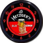 "Metzgers Old German Mt Carmel Brewery PA Beer Tray Wall Clock Ale Lager 10"""