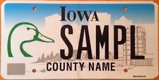 Iowa Ducks Unlimited license plate conservation waterfowl wetlands wild duck D/U