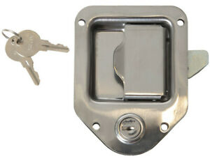 "Trailer Paddle Door Latch Handle RV Truck Tool Box Lock Steel + Key 4-3/8""3-1/4"""