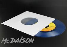 "McDAISON - 50 buste carta forata x dischi vinile 45 giri 7"" BIANCHE con VELINA"