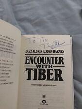 Signed! Buzz Aldrin Encounter With Tiber Hcdj Novel Apollo 11 Astronaut Rare