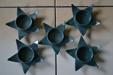 Kerzenhalter Metall Stern  Metalligfarben 5 Stück