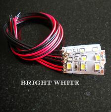 Pre Wired 2.5cm 3 SMD strip 12volt  X  5 BRIGHT WHITE