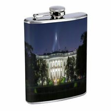 Washington D.C. D9 Flask 8oz Stainless Steel Hip Drinking Whiskey Monuments