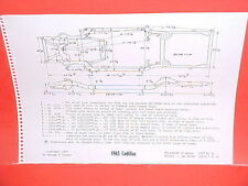 1965 CADILLAC ELDORADO DEVILLE CONVERTIBLE FLEETWOOD 60 FRAME DIMENSION CHART