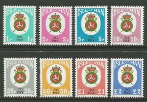 STAMPS-ISLE OF MAN. 1982. Postage Due Set to SG: D17/24. Mint Never Hinged