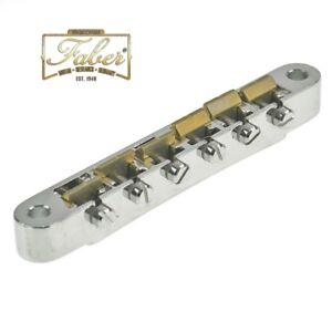 Faber ABR-M-59-BG ABRM59BG Bridge Brass Saddles Nickel High Gloss Metric 3060-2