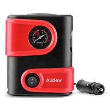 AUDEW Tire Inflator Car Air Compressor Electric Pump Portable Auto 12V DC 150PSI