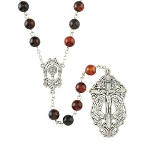"Rosary of Adoration 23"" Glass 8 mm Glass"