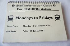 More details for 2004 reading station working arrivals departures timetable railway trip notice