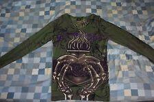 *RARE & UNIQUE* Christian Audigier Men's Sweater Green w/ Rhinestones Size L