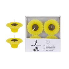"Mega Candles - Unscented 3"" Floating Sun Flower Candles - Yellow, Set of 12"